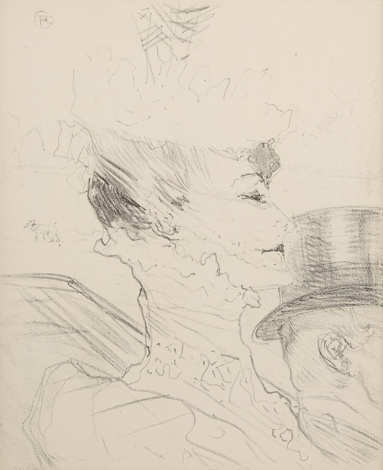 Henri de Toulouse-Lautrec-Louise Balthy, From Treize Lithographies-1898