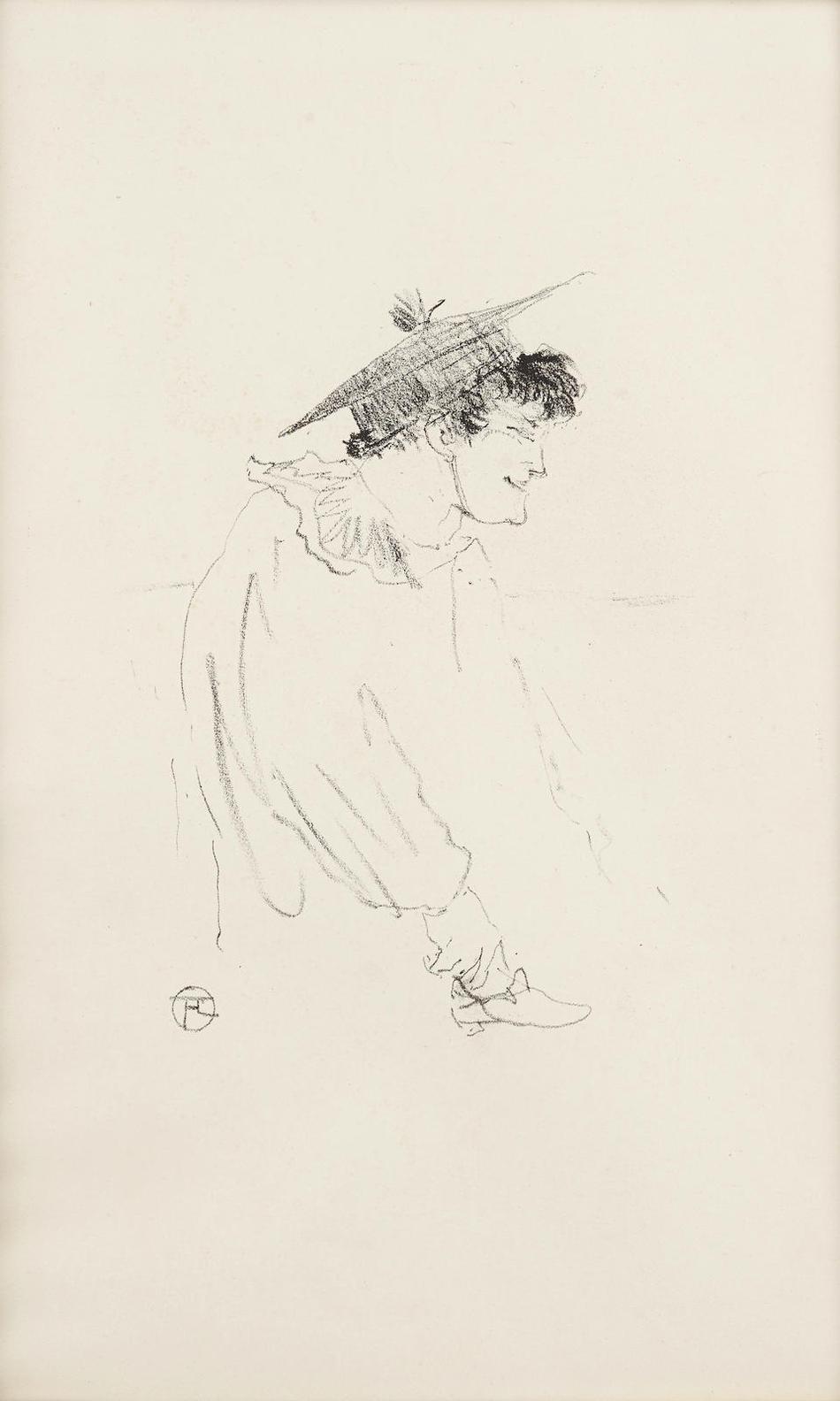Henri de Toulouse-Lautrec-Petite Fille Anglaise (Miss Dolly)-1899