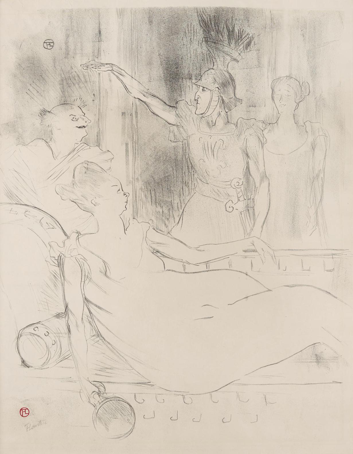 Henri de Toulouse-Lautrec-Madame Simon-Girard, Brasseur Et Guy, Dans La Belle Helene-1900