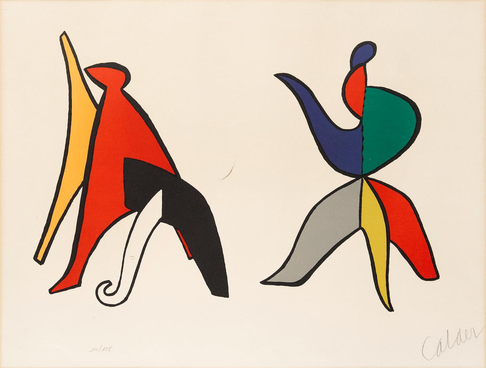 Alexander Calder-2 Plates, From Stabiles 2-1963