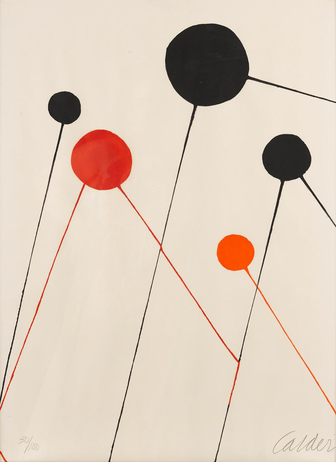 Alexander Calder-Untitled (Balloons)-1968