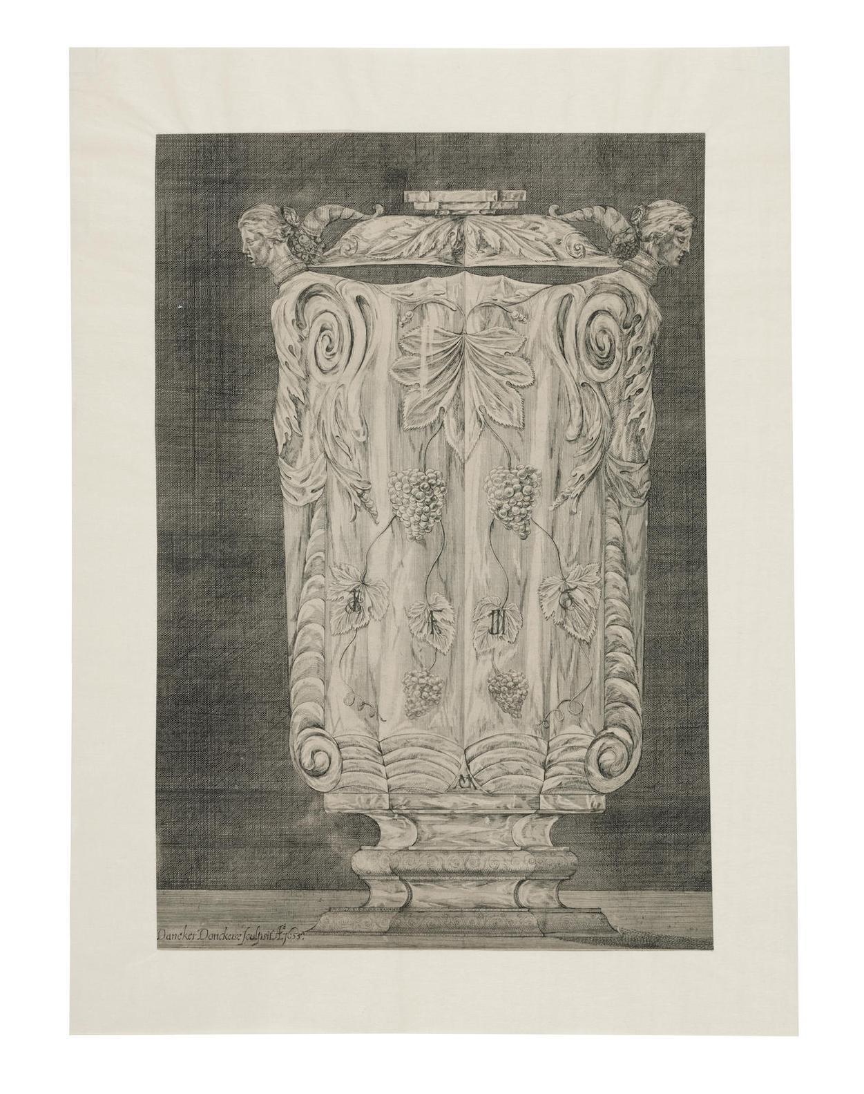 Dancker Danckerts - The Crystal Vase Of Emperor Ferdinand Iii In The Treasury In Vienna-1655