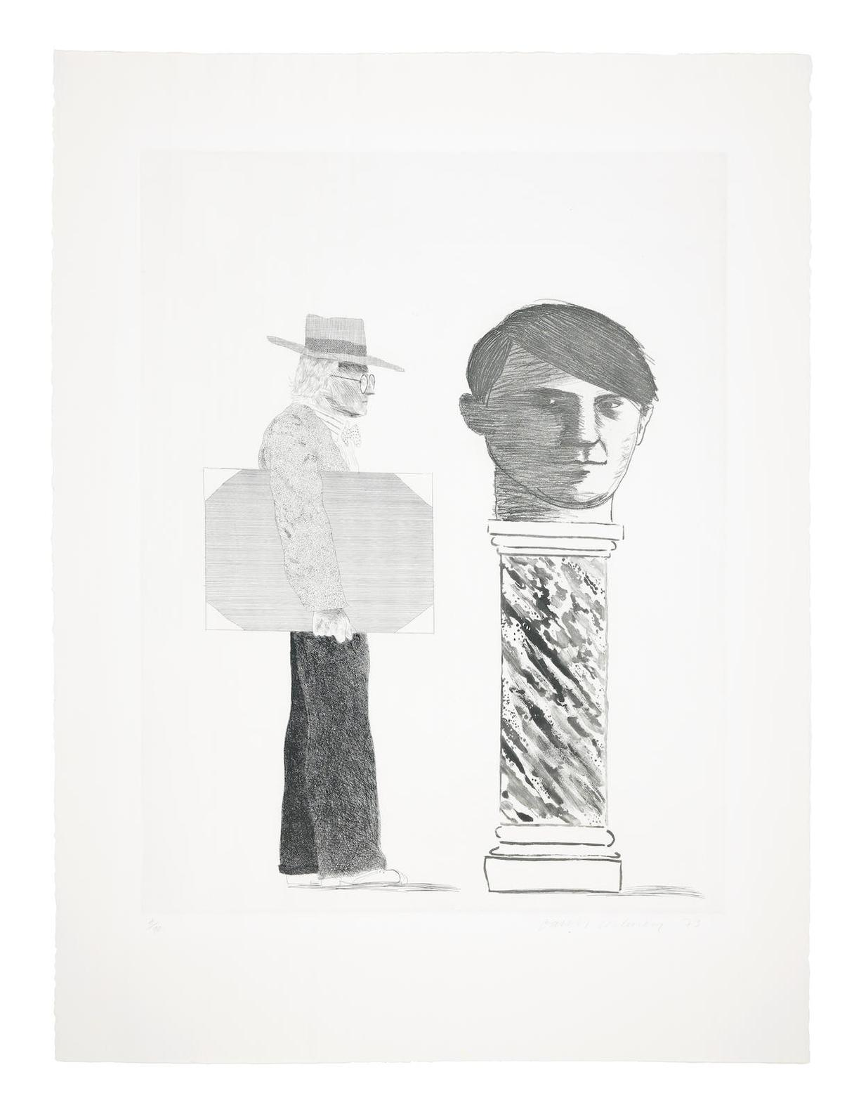 David Hockney-The Student: Homage To Picasso-1973