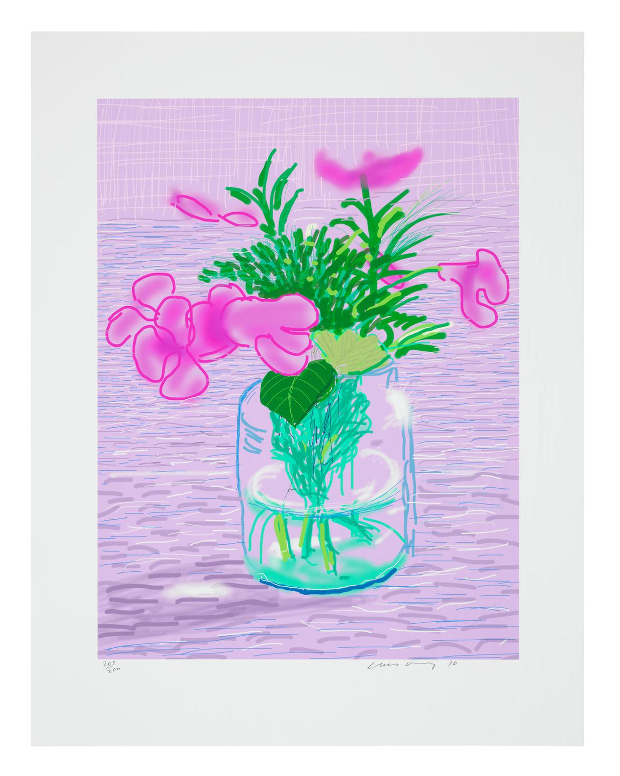 David Hockney-Untitled No.329, From A Bigger Book: Art Edition A-2016