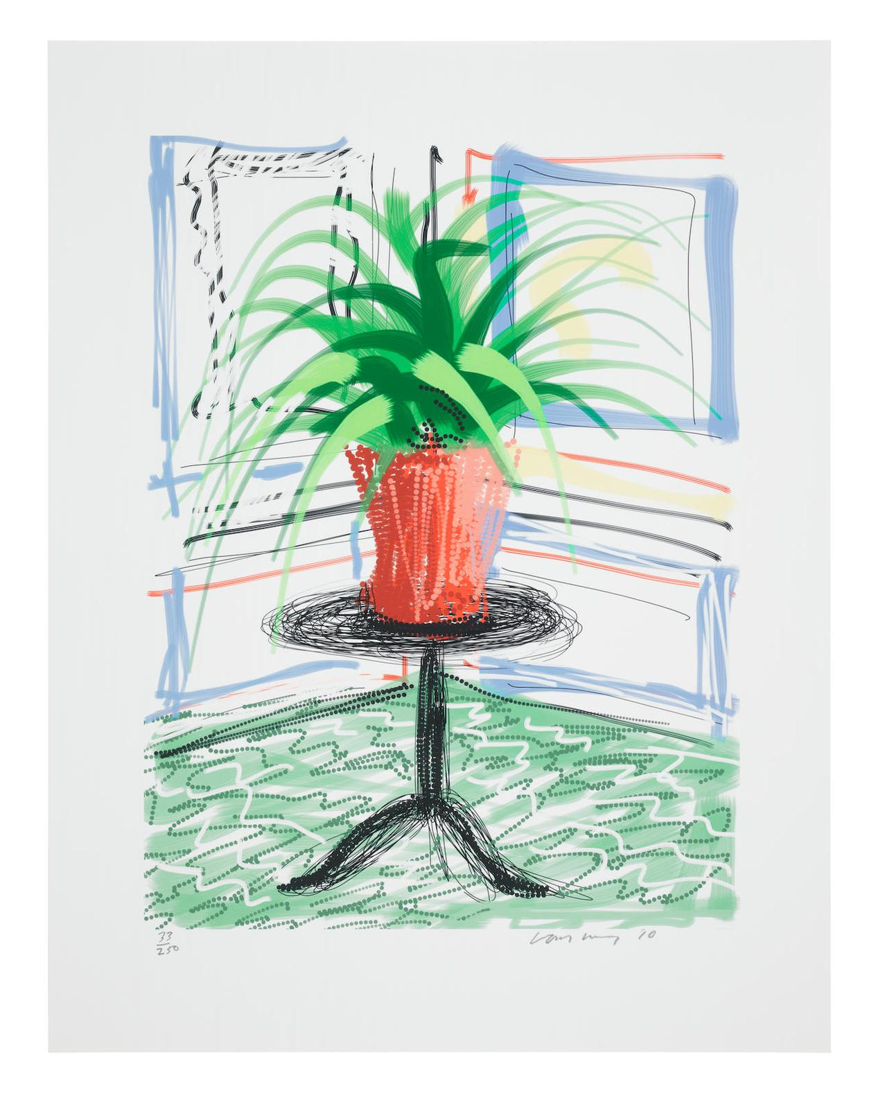 David Hockney-Untitled No.468, From A Bigger Book: Art Edition C-2016