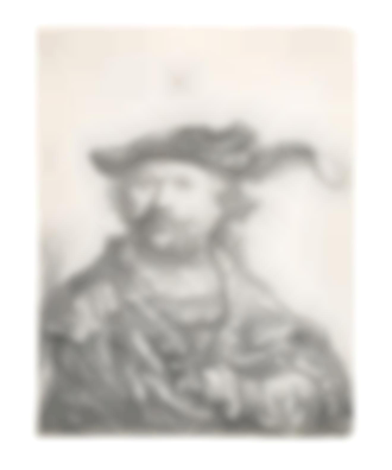 Rembrandt van Rijn-Self-Portrait In A Velvet Cap With Plume-1638