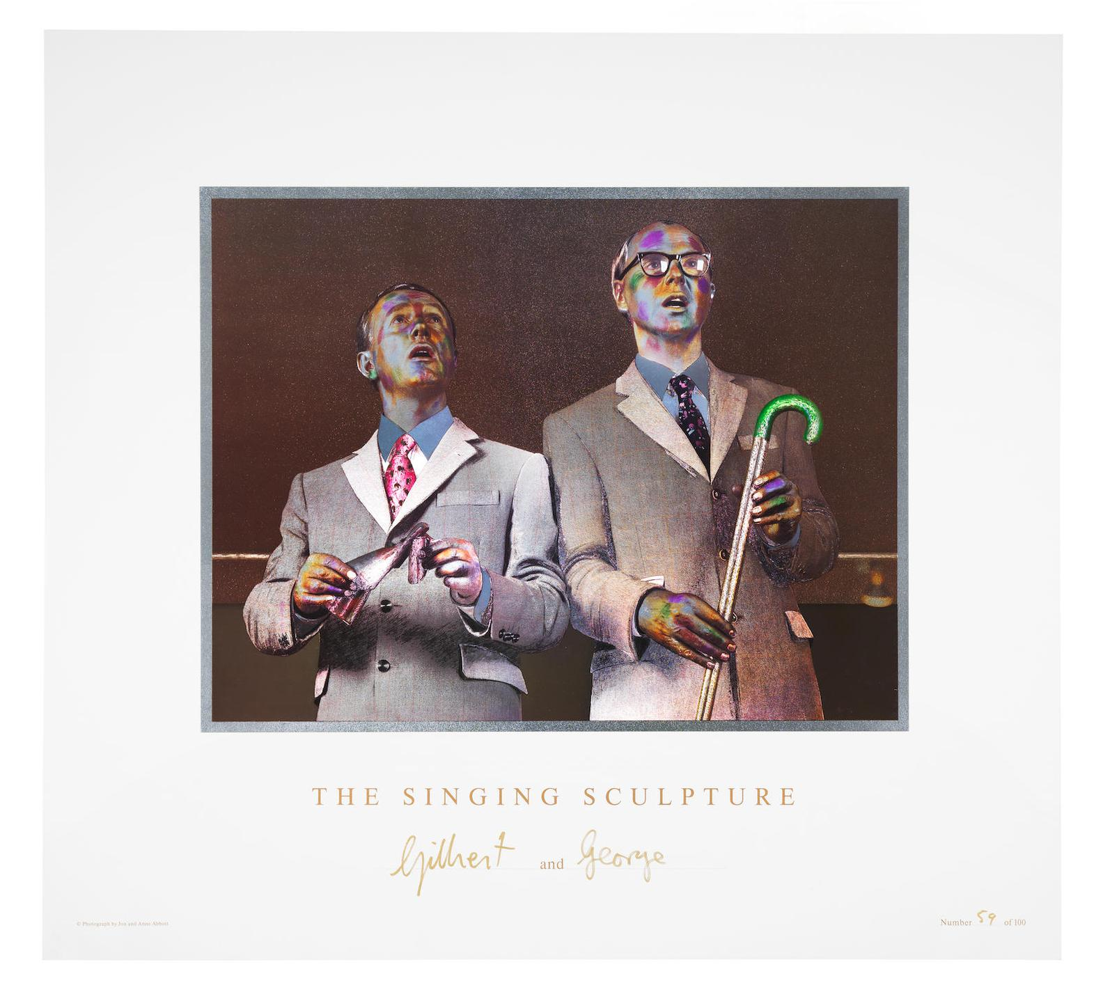 Gilbert and George-The Singing Sculpture-1993