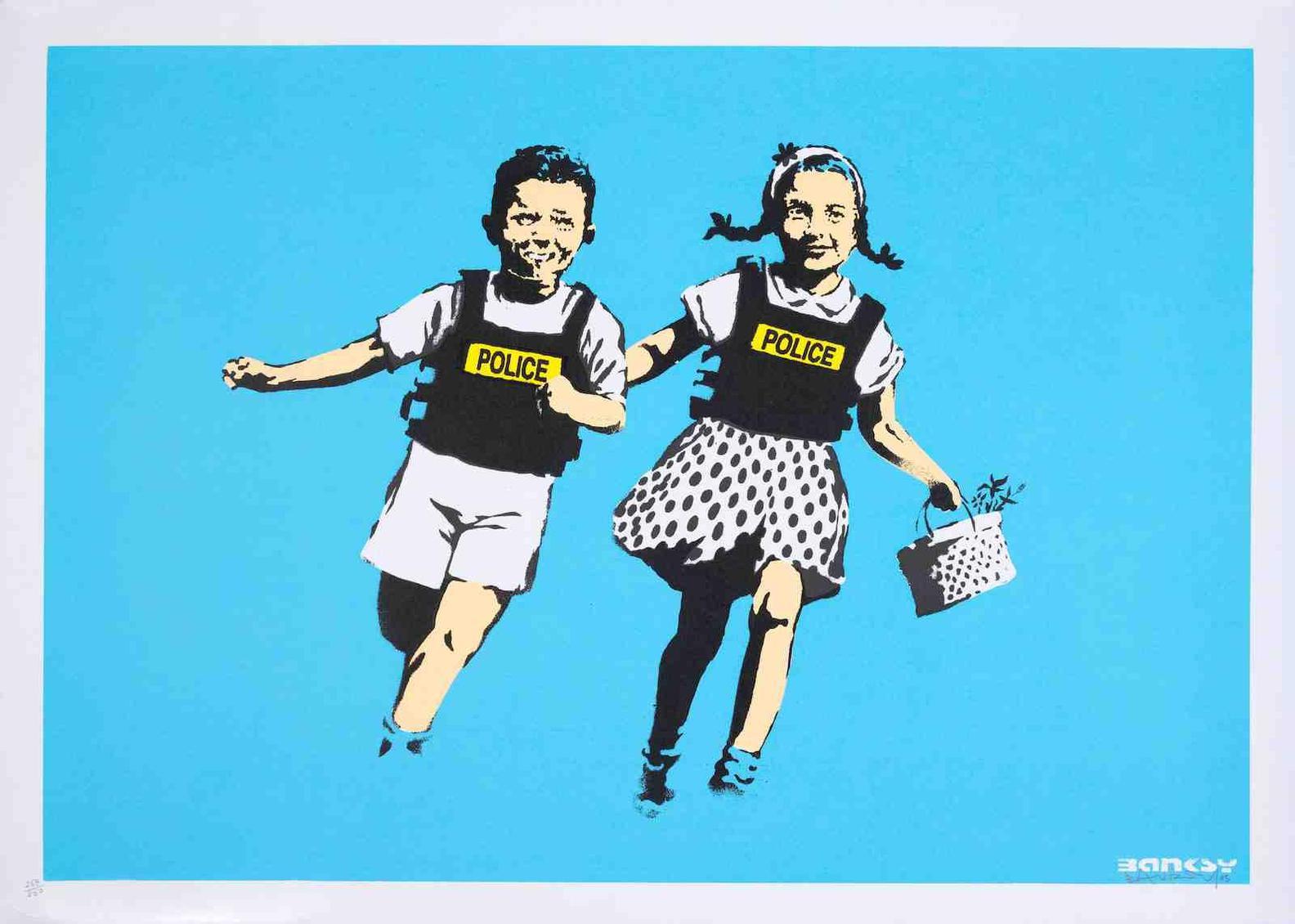 Banksy-Jack & Jill (Police Kids)-2005