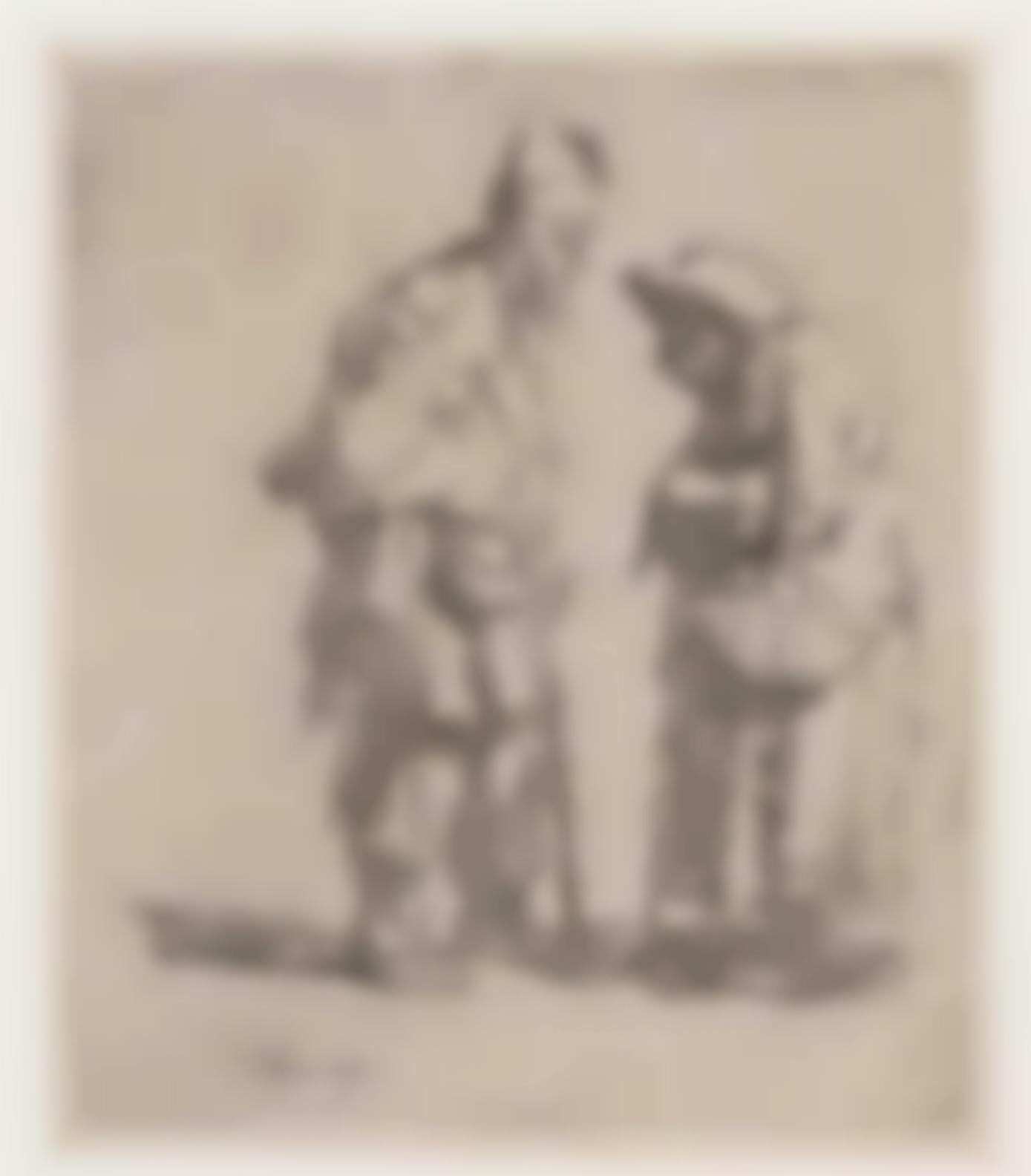 Rembrandt van Rijn-Beggar Man And Beggar Woman Conversing-1630