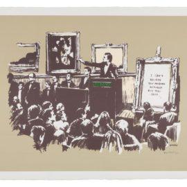 Banksy-Morons (Sepia)-2007