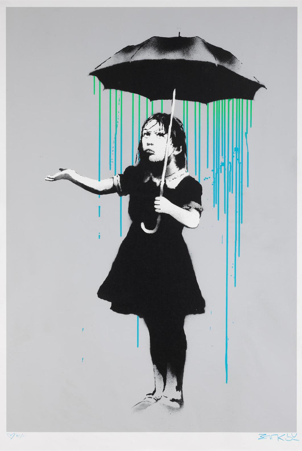 Banksy-Nola (Blue And Green Rain)-2008