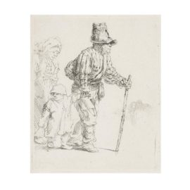 Rembrandt van Rijn-Peasant Family On The Tramp Unframed-1652