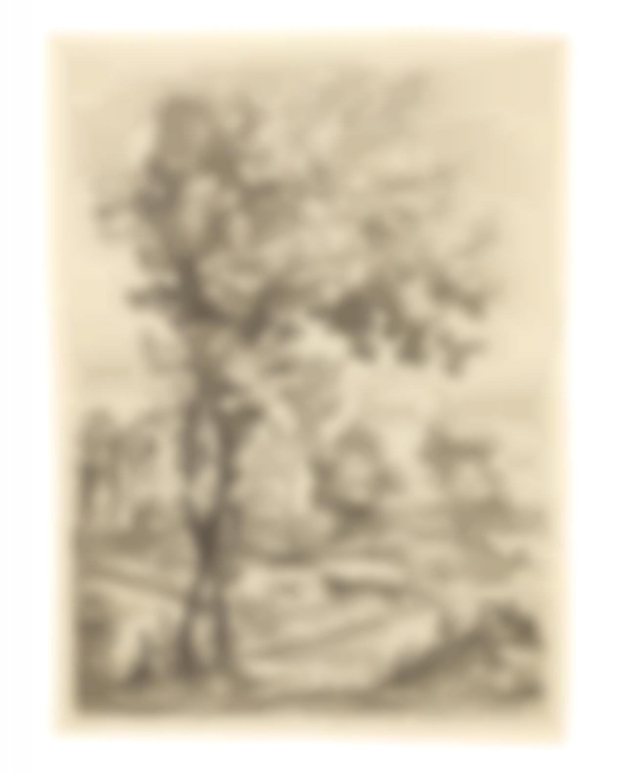 Giovanni Francesco Grimaldi - Landscape With Two Figures On A Hillock-