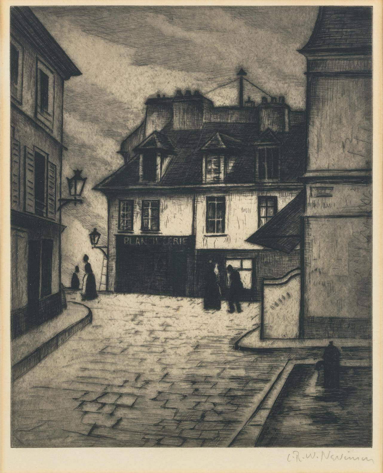 Christopher Richard Wynne Nevinson A.R.A - La Butte Montmartre-1922