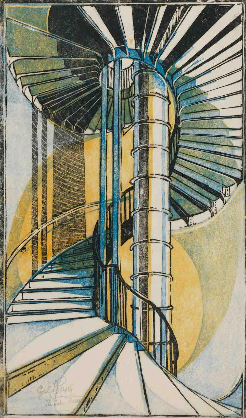 Cyril Edward Power-The Tube Staircase-1929