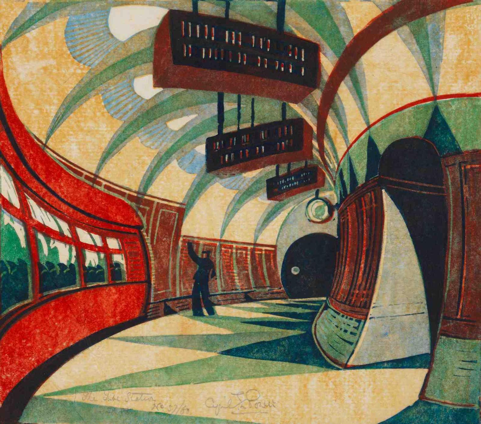 Cyril Edward Power-Tube Station-1932
