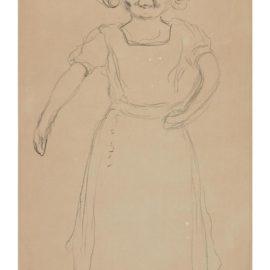 Edvard Munch-Pernille Kirkeby II (Little Norwegian Girl Running)-1909