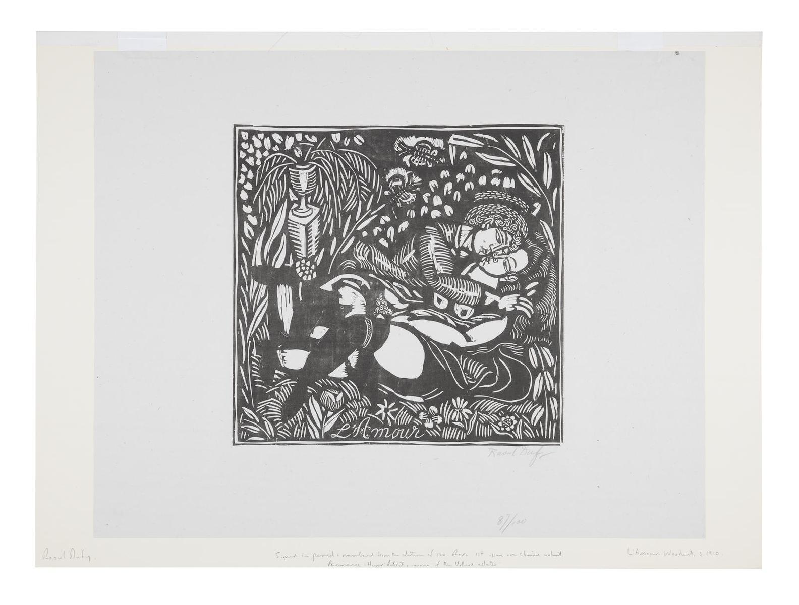 Raoul Dufy-Quatre Bois: Lamour And La Peche-1911