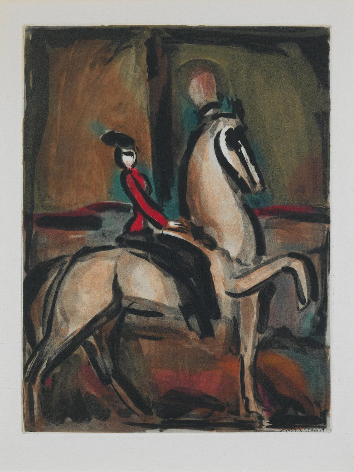 Georges Rouault-Amazone, from Cirque (Chapon 198)-1930