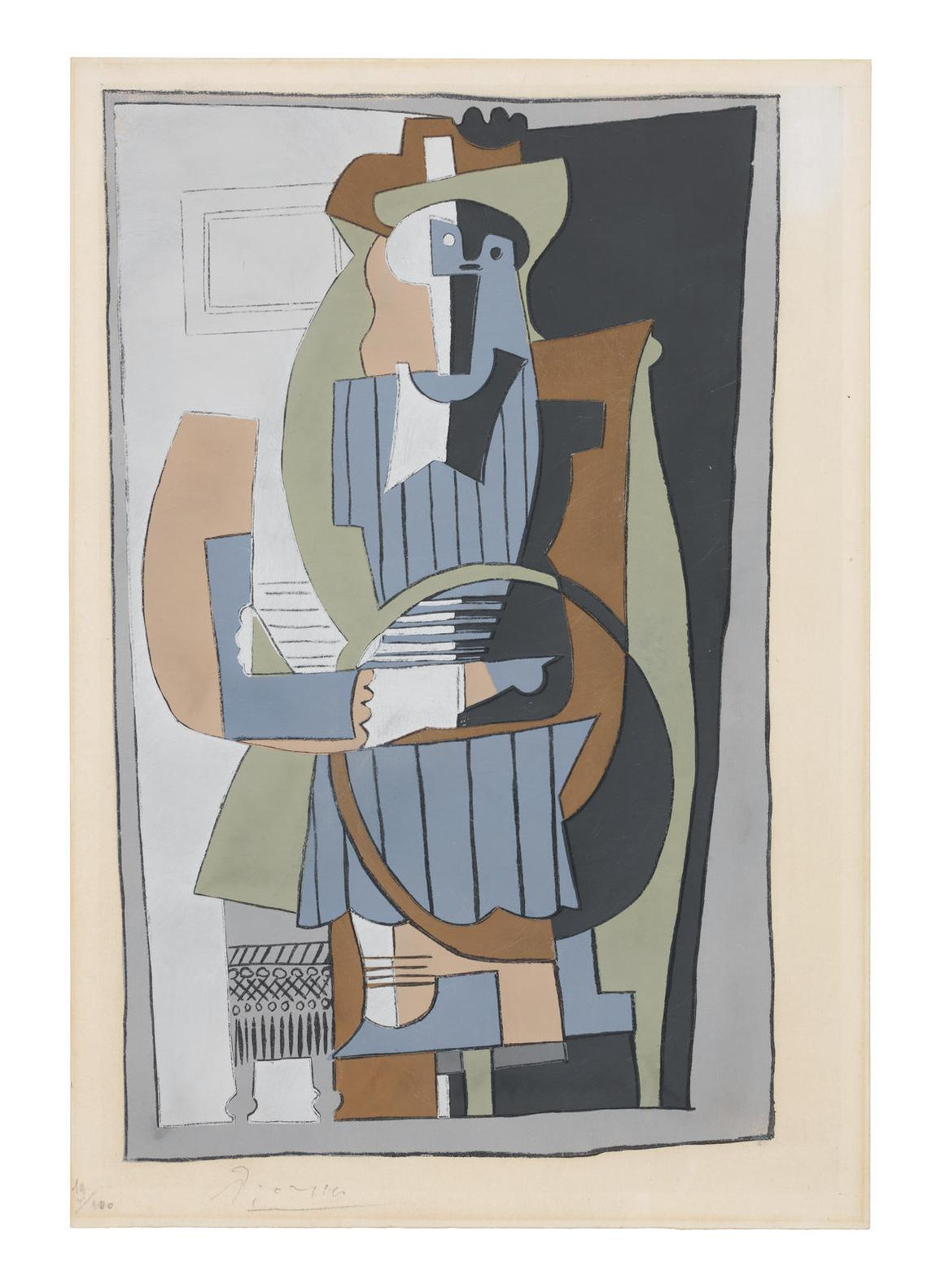 After Pablo Picasso - Seated Figure, from Dix Pochoirs-1920