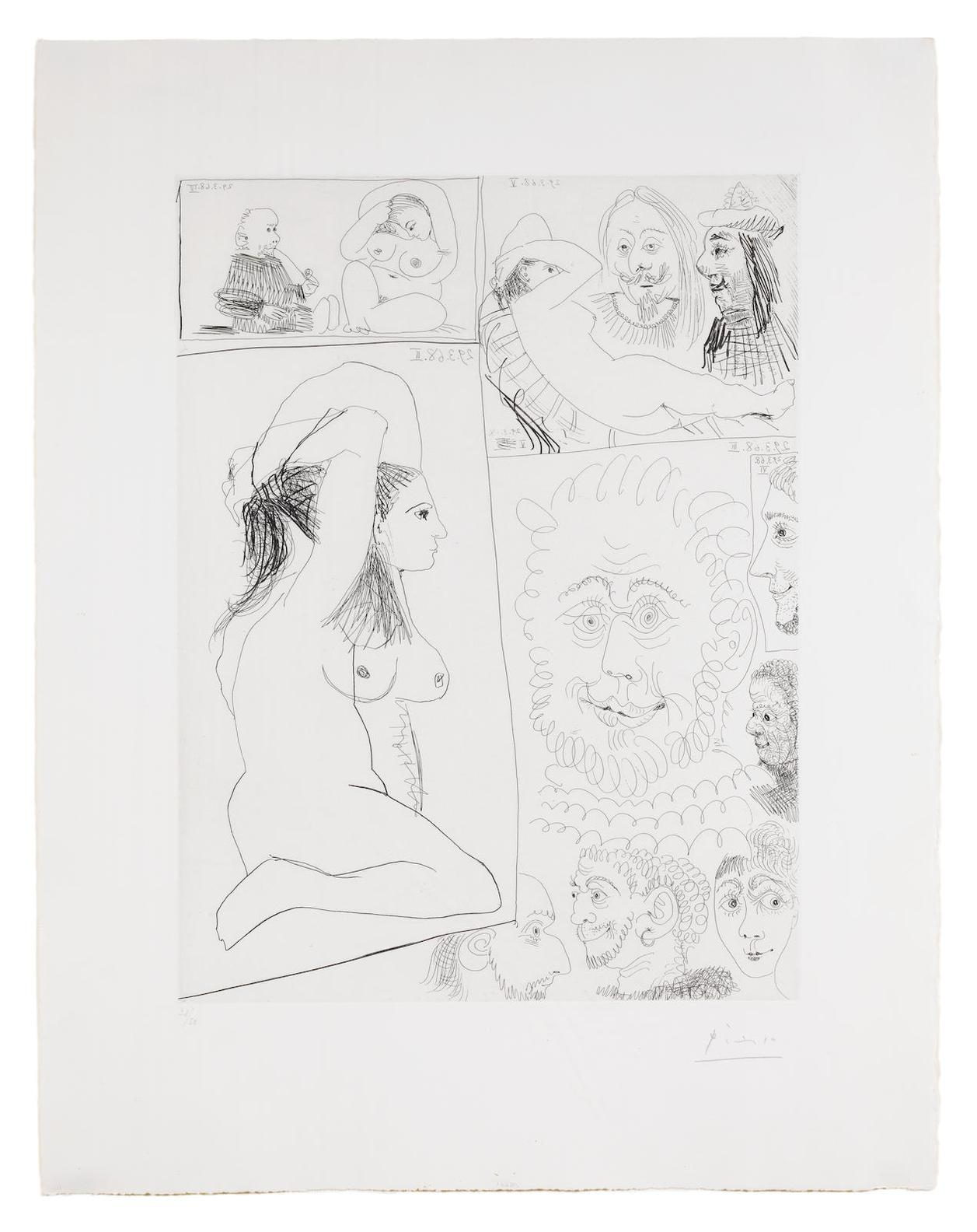 Pablo Picasso-Bande Dessinee, from Series 347 (Bloch 1491; Baer 1507)-1968