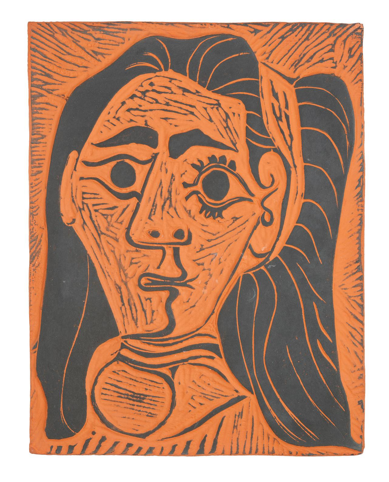Pablo Picasso-Femme Aux Cheveux Flous (Fluffy-Haired Woman)-1964