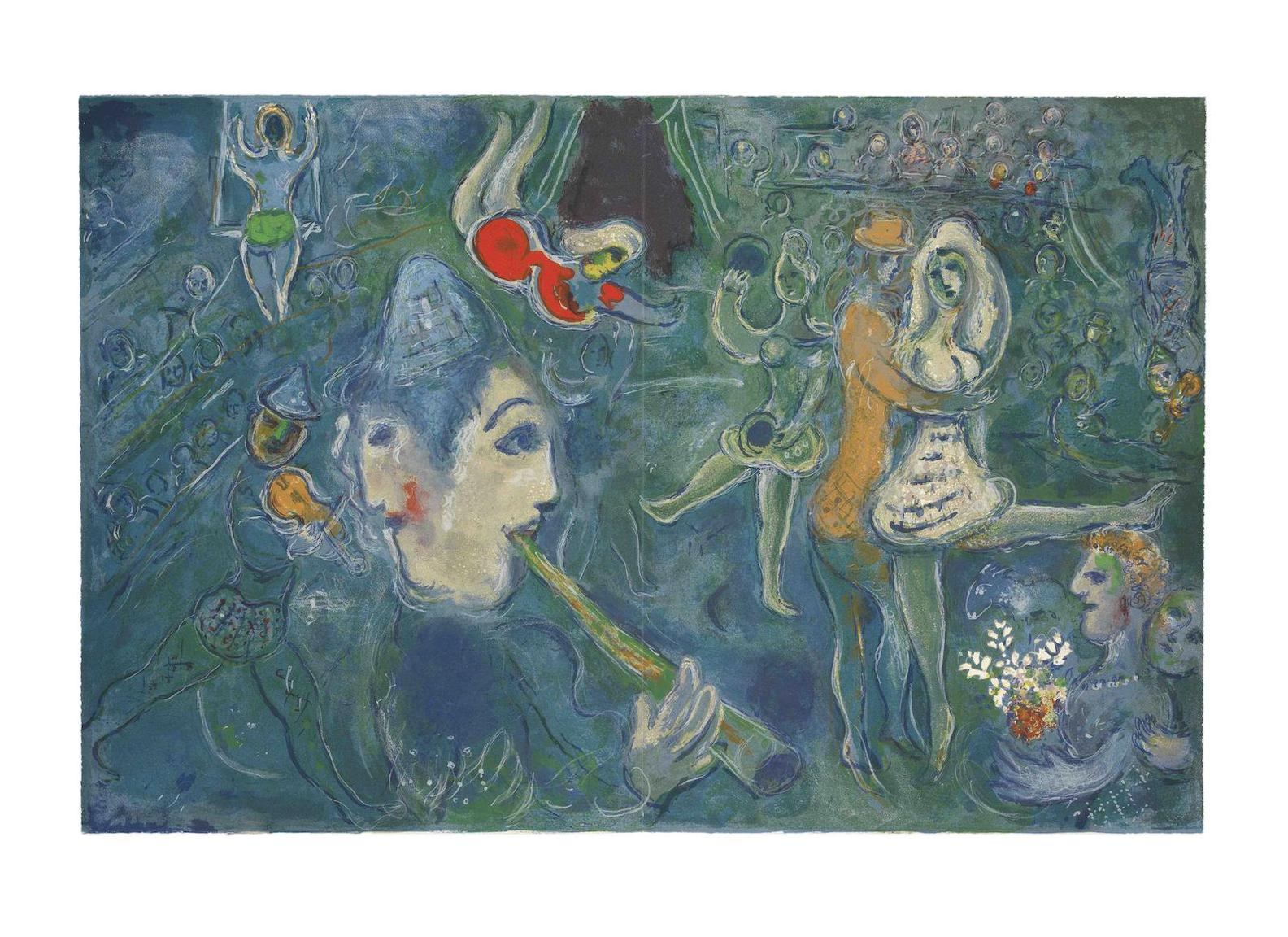 Marc Chagall-Cirque-1957