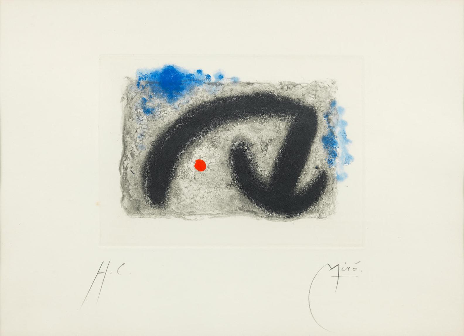Joan Miro-One Plate, from Fusees (Dupin 251)-1959