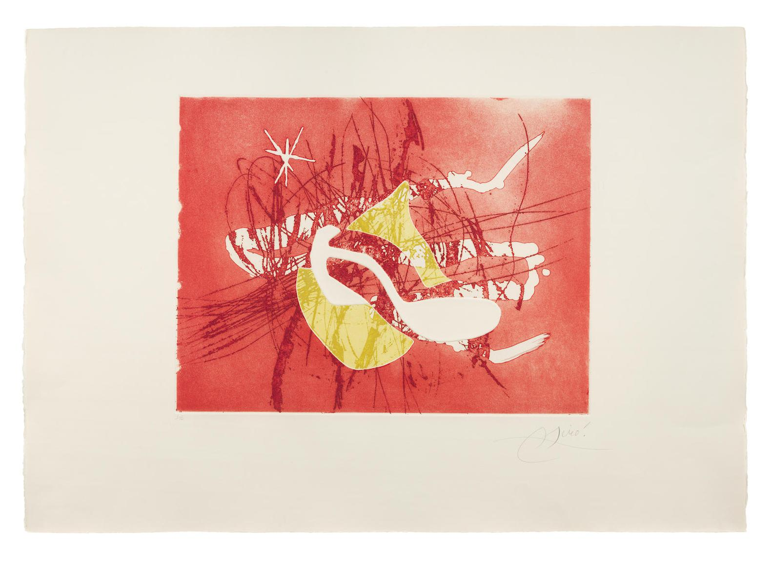 Joan Miro-One Plate, from Cantic Del Sol (Dupin 861)-1975