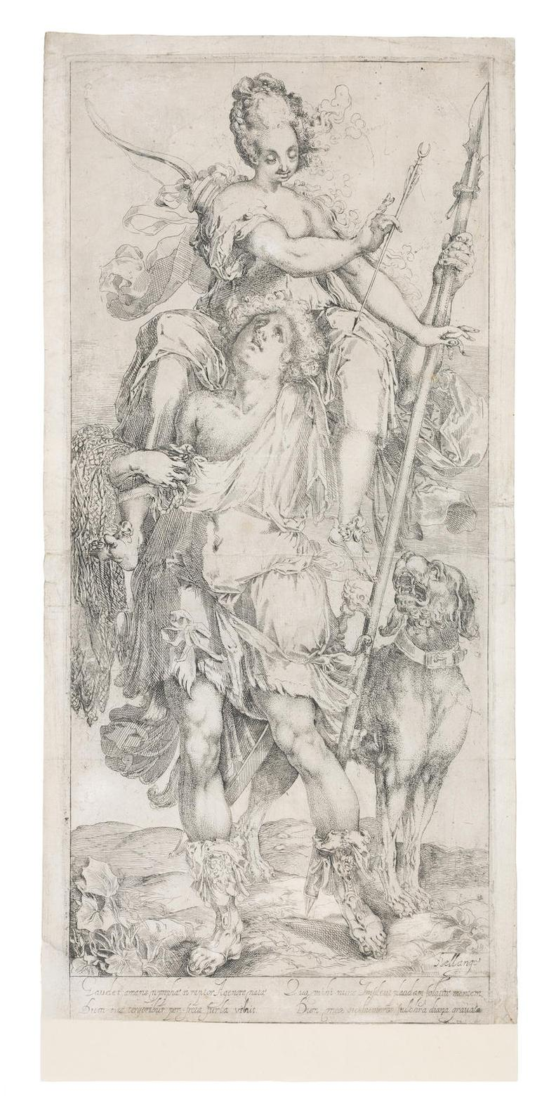 Jacques Bellange - Diana And The Hunter Unframed-