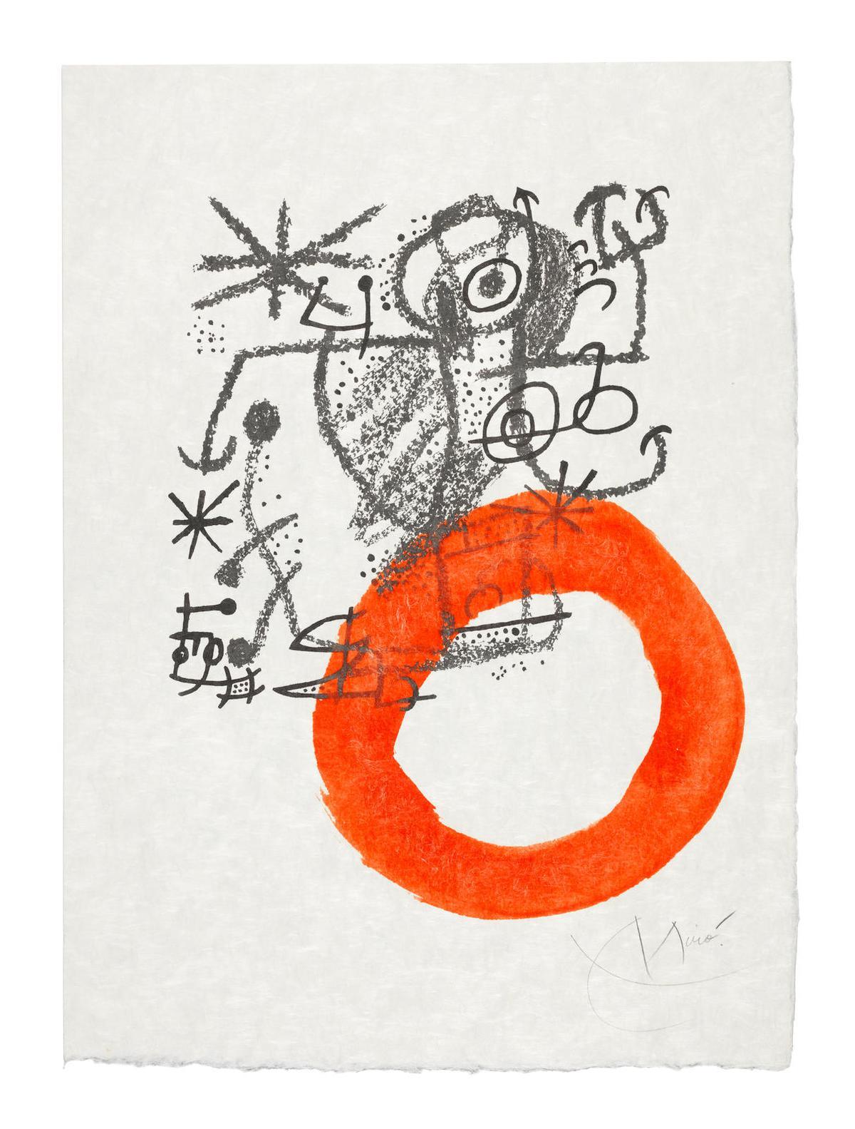 Joan Miro-One Plate, from Les Essencies de la Terra (Mourlot 577; Cramer Books 123)-1968