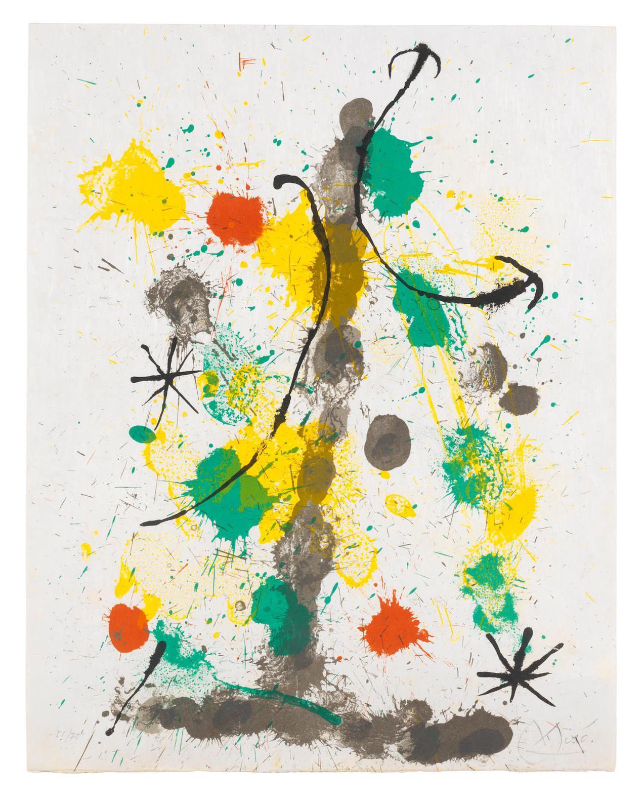Joan Miro-Plate 4 from Quelques Fleurs pour des Amis (Mourlot 410; Cramer Books 92)-1964