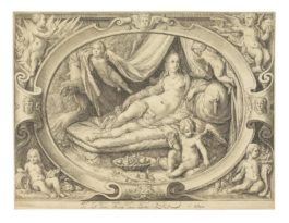 Jan Pietersz Saenredam - Venus With Amor Reclining On A Bed; Hendrick Goltzius - Portrait of Frederic II King of Denmark and Norway (H.188)