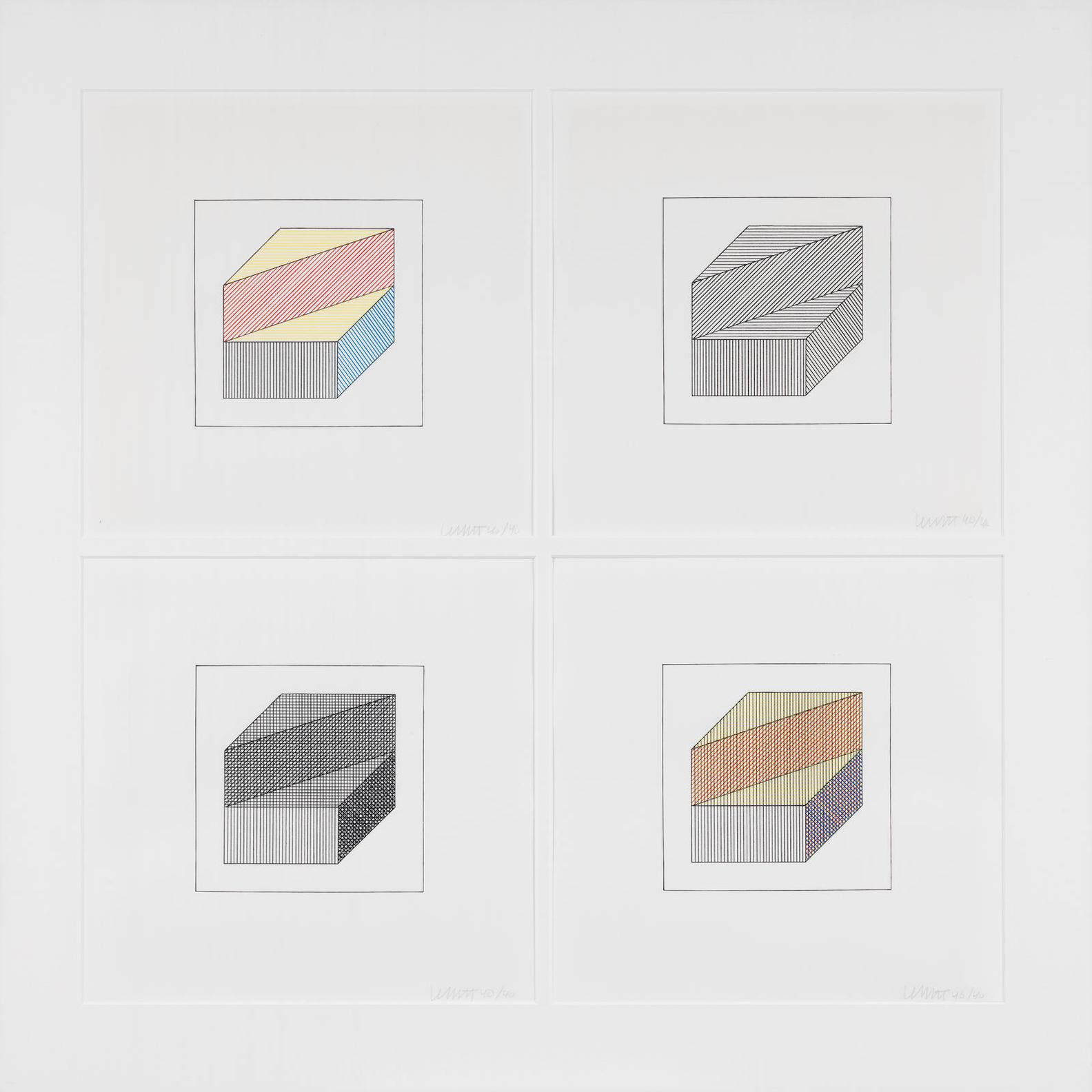 Sol LeWitt-Twelve Forms Derived From A Cube (SL 1984.05)-1984