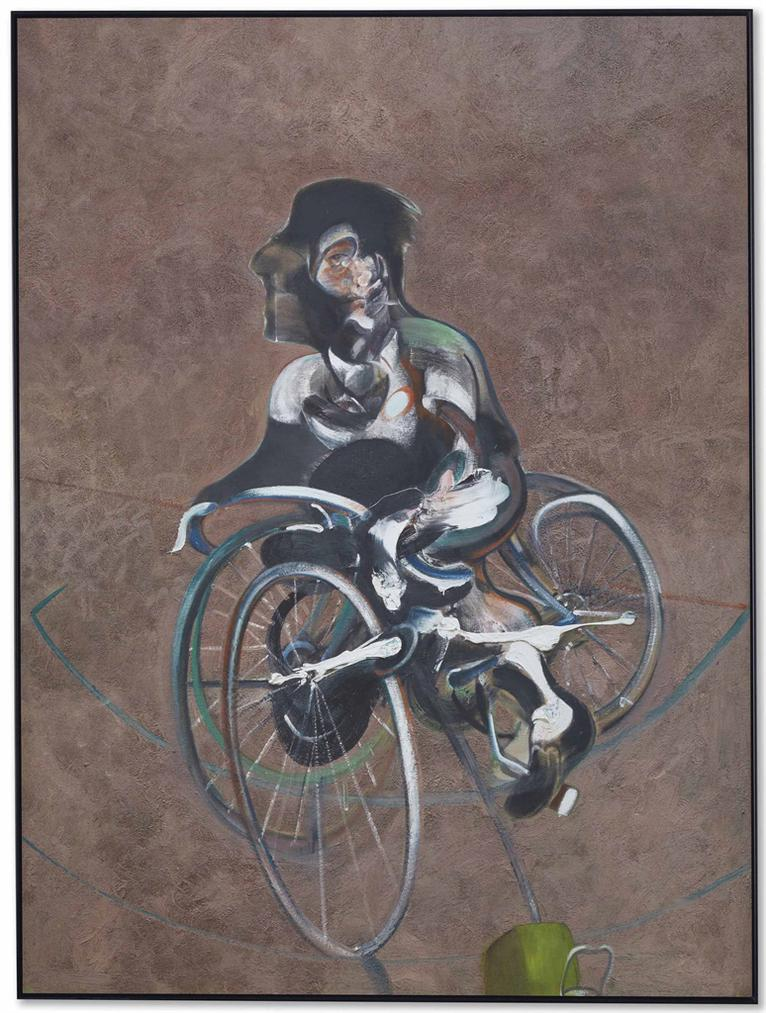 After Francis Bacon - Portrait Of George Dyer Riding A Bicycle-2015