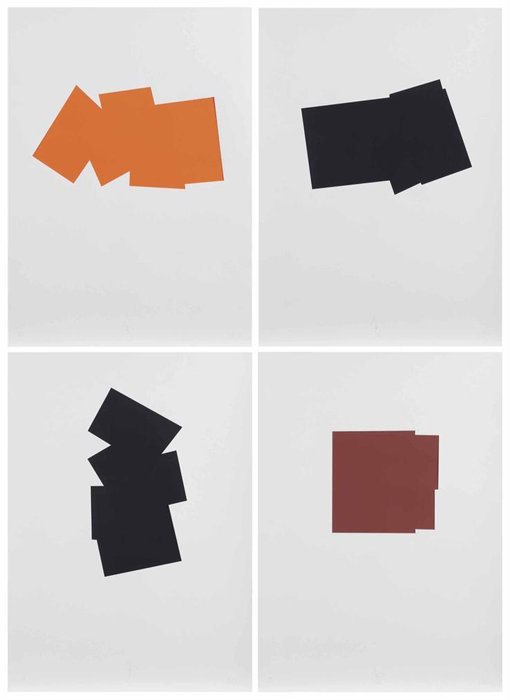 Imi Knoebel-Mennige Bilder (Serie A-J) (Mennige Pictures (Series A-J))-1992