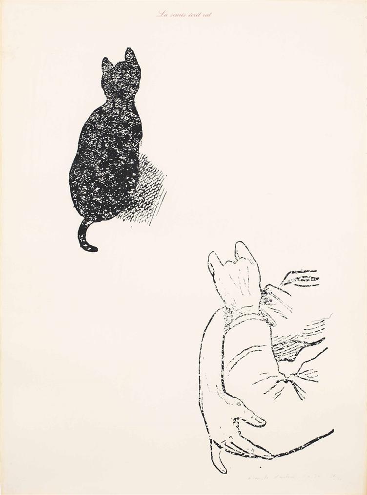 Marcel Broodthaers-La Souris Ecrit Rat (A Compte Dauteur) (The Mouse Writes Rat (At The Authors Expense)) (Red Variant)-1974