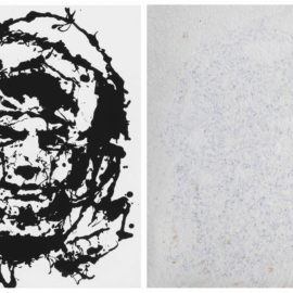 Art & Language-(i) After Art & Language (Charles Harrison), Study for Drawing (i), for Index: the Studio at 3 Wesley Place, 1981-2 (Art & Language, 'Portrait of V.I. Lenin in July 1917 Disguised by a Wig and Working Man's Clothes in the style of Jackson Pollock II (1980)); (ii) after Art & Language, 'Impressionism Returning Some Time in the Future'-1990