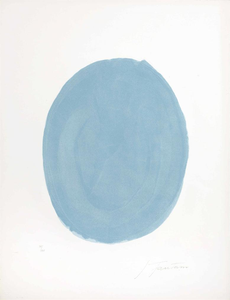 Lucio Fontana-Nudo Azzurro (Blue Oval With Nude)-1967