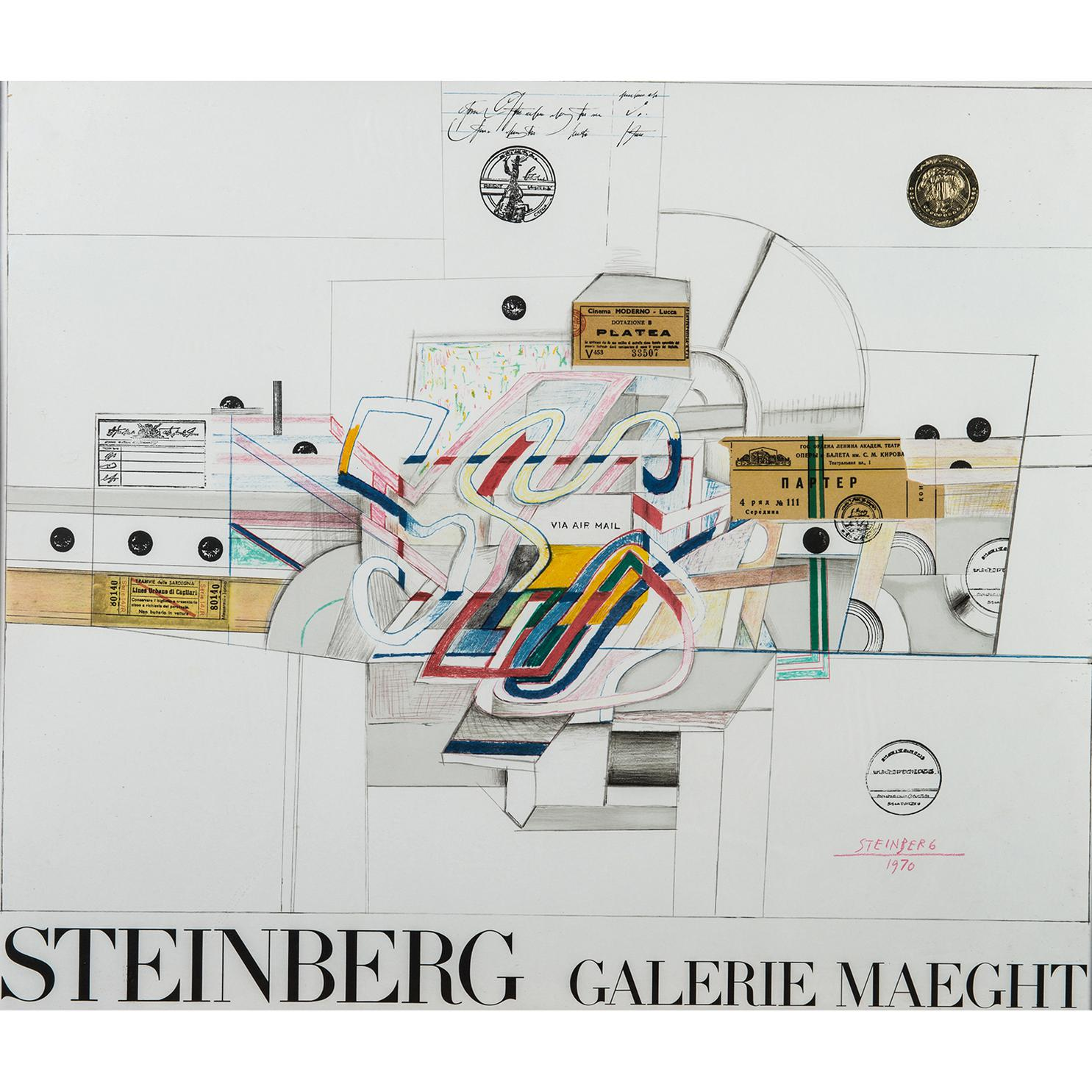Saul Steinberg-Via Airmail-1970