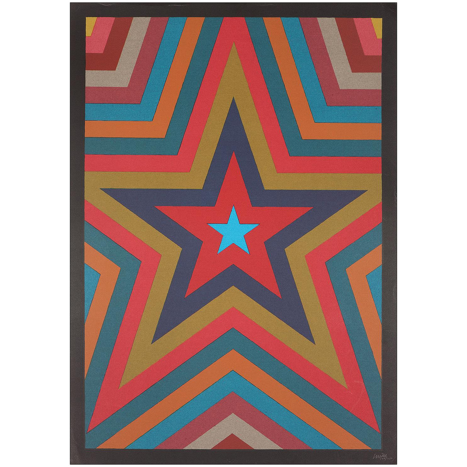 Sol LeWitt-Five Pointed Star With Colorbands-1992