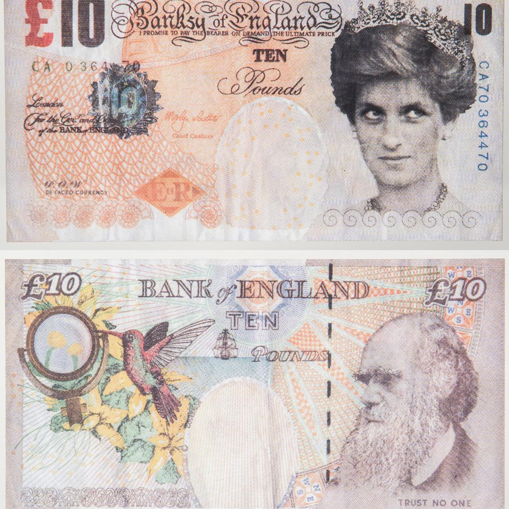Banksy-Di Faced Tenner 10 Pounds-