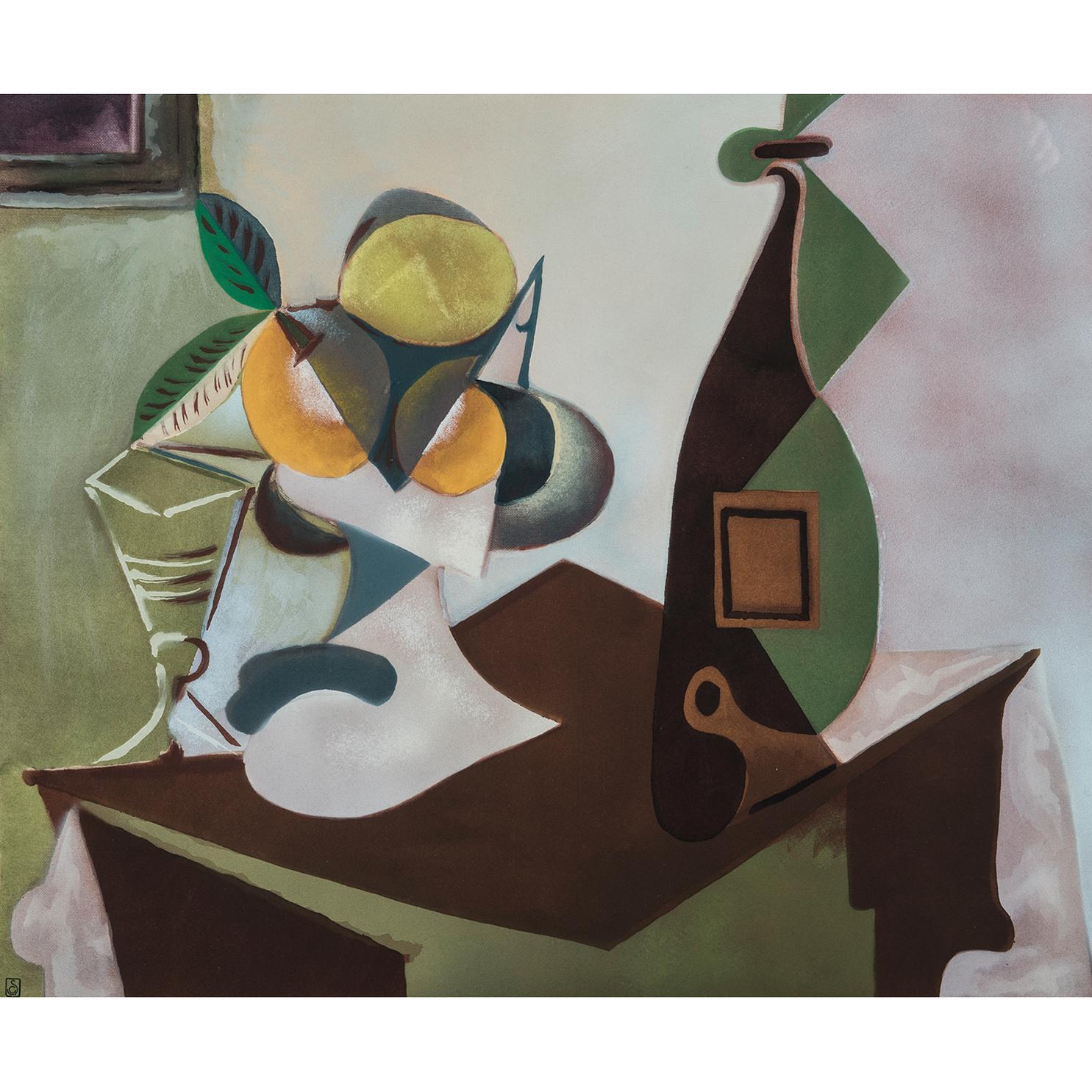 Pablo Picasso-Nature Morte Au Citron Et Aux Oranges-