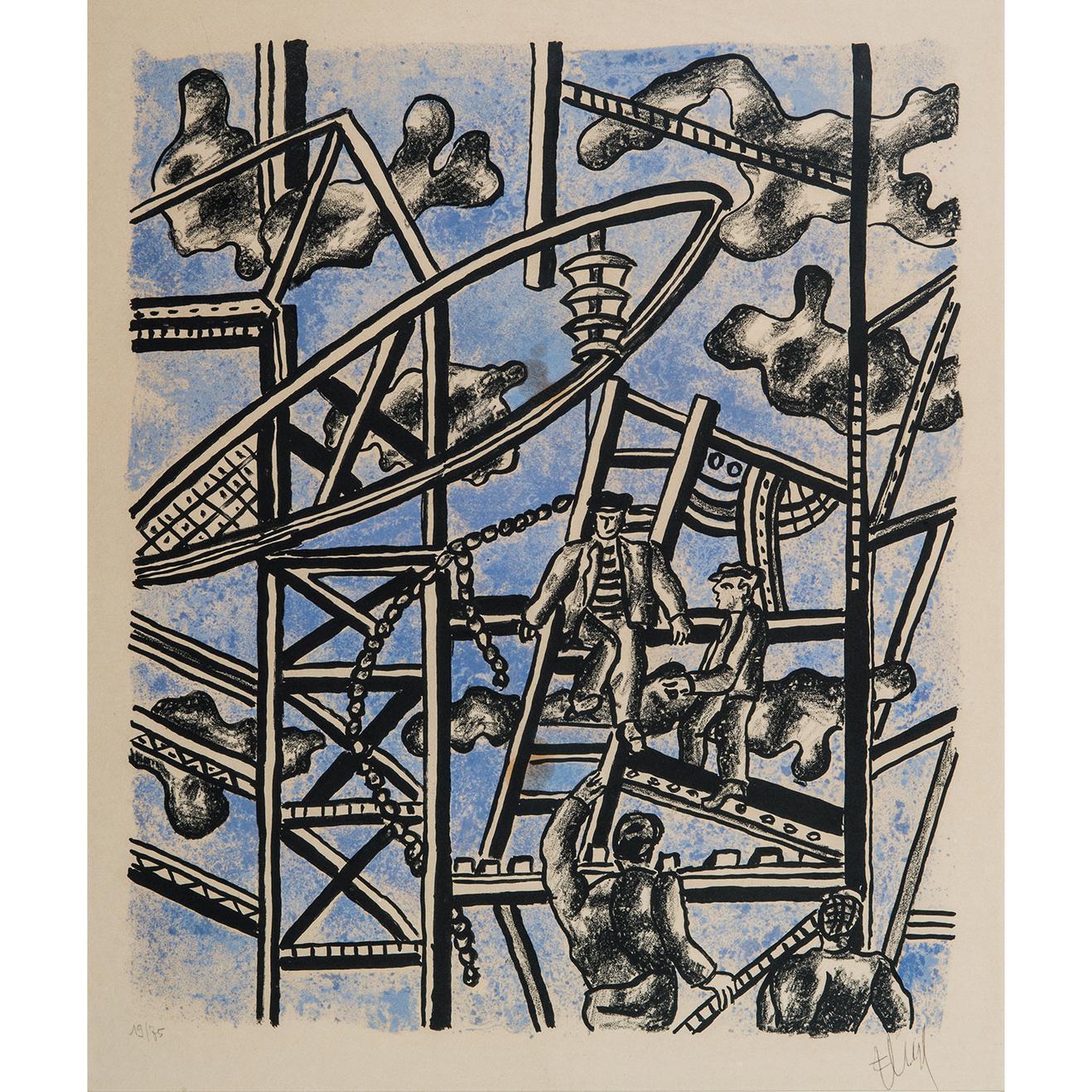 Fernand Leger-Les Constructeurs-1951