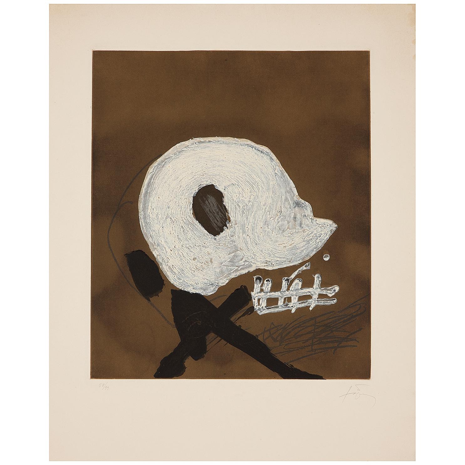 Antoni Tapies-Blanc Central-1982