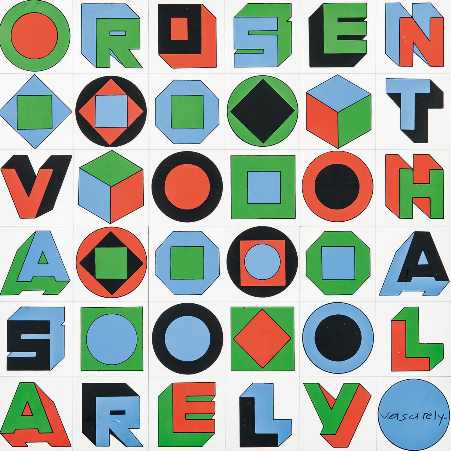 Victor Vasarely-Sans Titre-1977