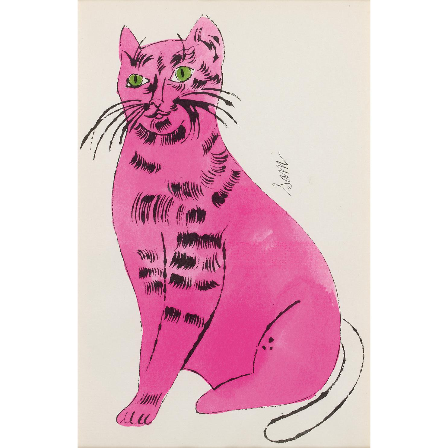 Andy Warhol-Sam (From 25 Cats Named Sam And One Blue Pussy)-1954