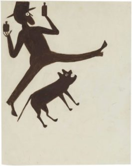 Bill Traylor - Drinking Man With Dog-1939