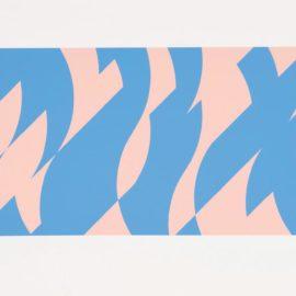 Bridget Riley-Blue And Pink-2001