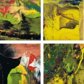 Gerhard Richter-Flow (P4); Flow (P5); Flow (P6); and Flow (P7)-2014